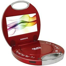 Sylvania SDVD7046-Red 7-Inch Portable DVD Player with Integr