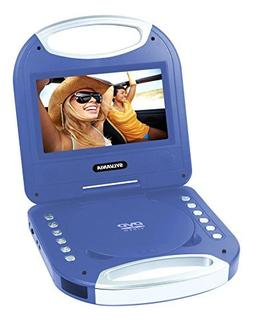 Sylvania SDVD7049 7-Inch Portable DVD Player with Handle, Bl