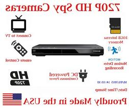 SecureGuard DVD Player 720P Spy Camera SD Card DVR Nanny Cam