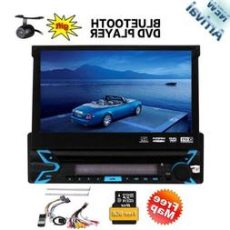 Single Din Stereo GPS DVD Player Navigation Radio Bluetooth+