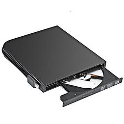 Slim External Type-C DVD RW, USB External DVD Burner with Ty