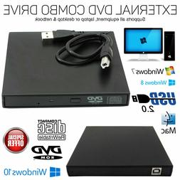 Slim Portable USB2.0 Ultra External DVD ROM Combo CD-RW Burn