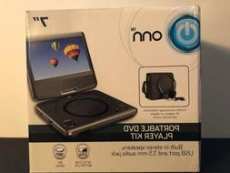 "ONN Swivel 7"" Portable DVD Player Kit- Brand New/Open Box"