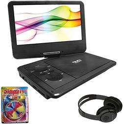 """Sylvania 9"""" Swivel Screen Portable DVD Player with 5 Hour Re"""
