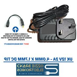 To Fit DBPOWER Portable Video DVD Player Power Supply Adapte