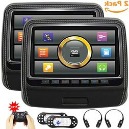Touchscreen Headrest DVD Player for Car With Leather Cover U