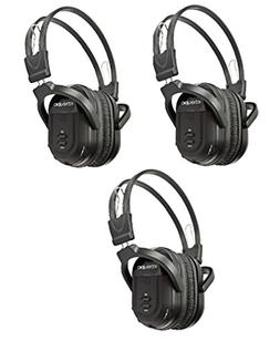 3 Pack of Two Channel Folding Universal Rear Entertainment S