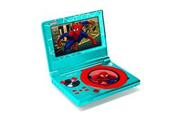 "Lexibook Marvel Spider-Man Portable DVD Player, 7"" LCD rot"