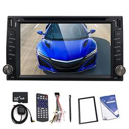"Upgarde Version 6.2"" Double 2 DIN Car DVD CD Video Player Bl"