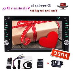Upgraded 6.2inch Double 2Din in Dash Car DVD Player Stereos