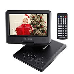 【Upgraded】 DBPOWER Portable DVD Player with 9.5'' HD Swi