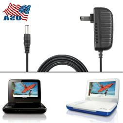 US Adapter for Philips PET741B/37 Portable DVD Player Charge