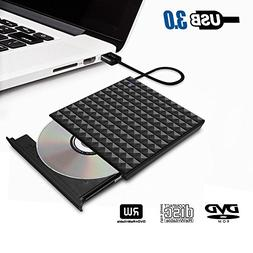 USB 3.0 External DVD Drive,Paragala Ultra Slim External CD D