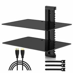 Wall Mount Shelf Tempered Glass Floating DVD Player Video Ga
