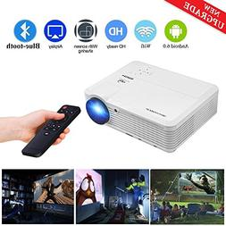 WiFi Wireless Bluetooth Projector Android 6.0 LCD LED Projec